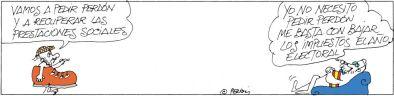 Viñeta de Peridis del 11 de Noviembre de 2013, El País.